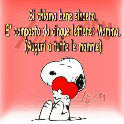 Auguri a tutte le mamme con Snoopy