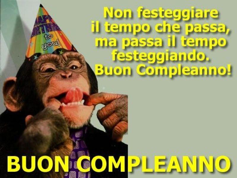 Buon Compleanno Con Simpatica Scimmia Bellissimeimmagini It