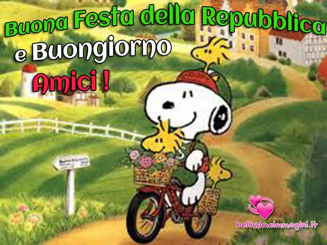 Buongiorno e Buona Festa della Repubblica con Snoopy