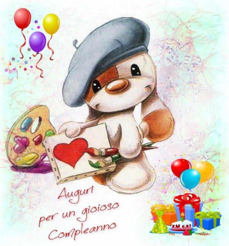 Immagini Frasi Auguri Buon Compleanno dolci con orsetti (10)