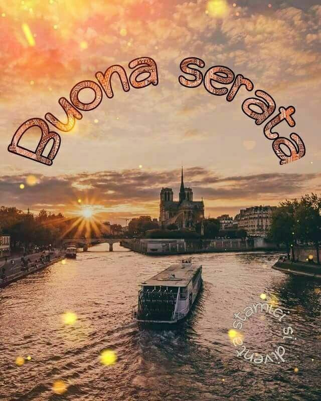 Immagini buona serata con tramonto