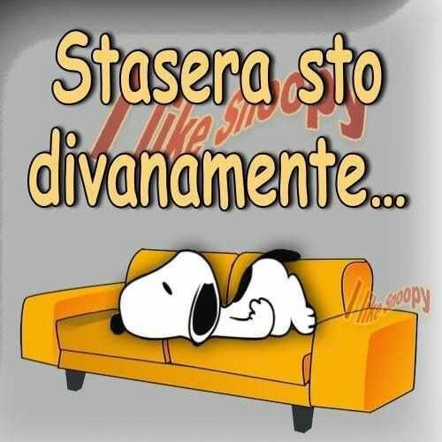 Immagini simpatiche per Buonasera con Snoopy