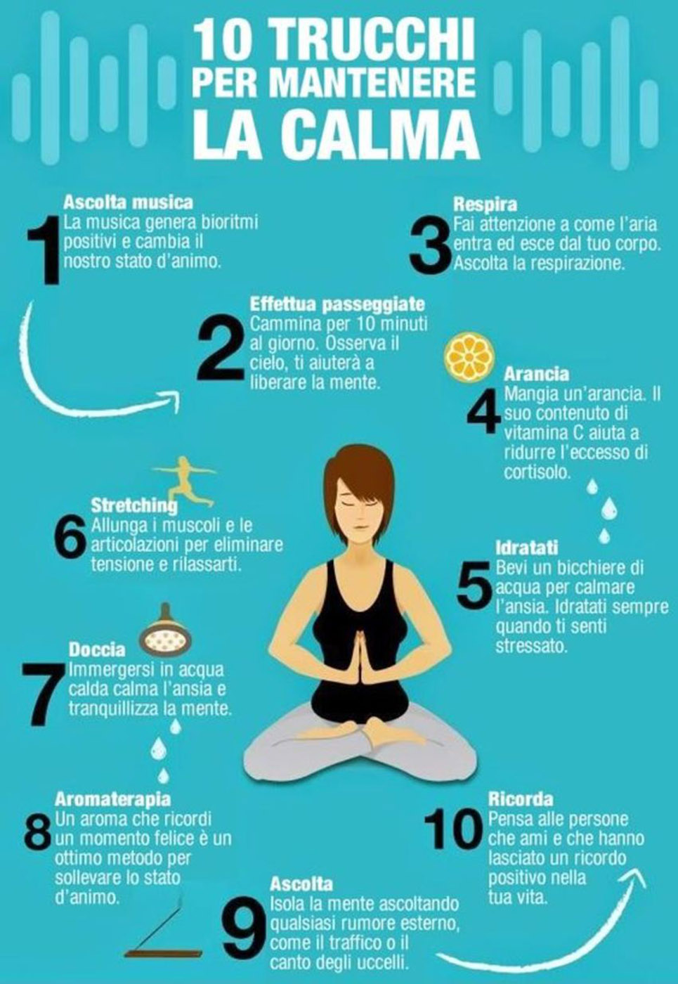 10 trucchi per mantenere la calma