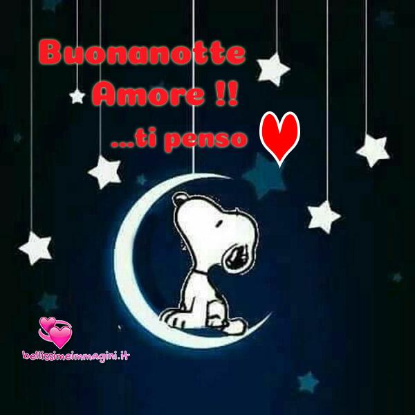 Buonanotte Amore Ti Penso Con Snoopy Immagini Da Condividere Gratis