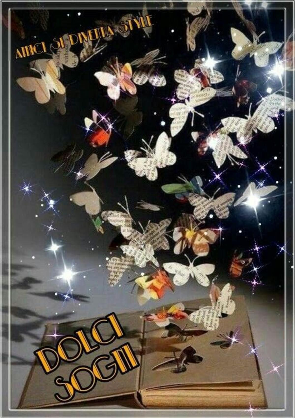 Buonanotte Con Bellissime Farfalle Bellissimeimmagini It