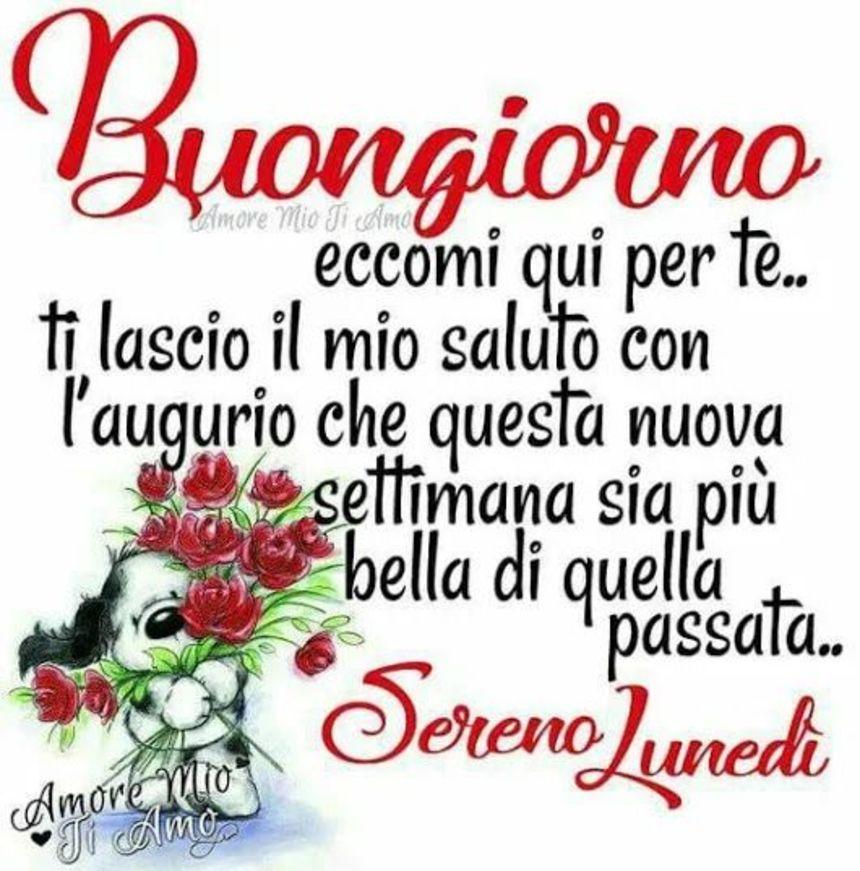 Buongiorno Buon Lunedi Amore Mio 1 Bellissimeimmagini It