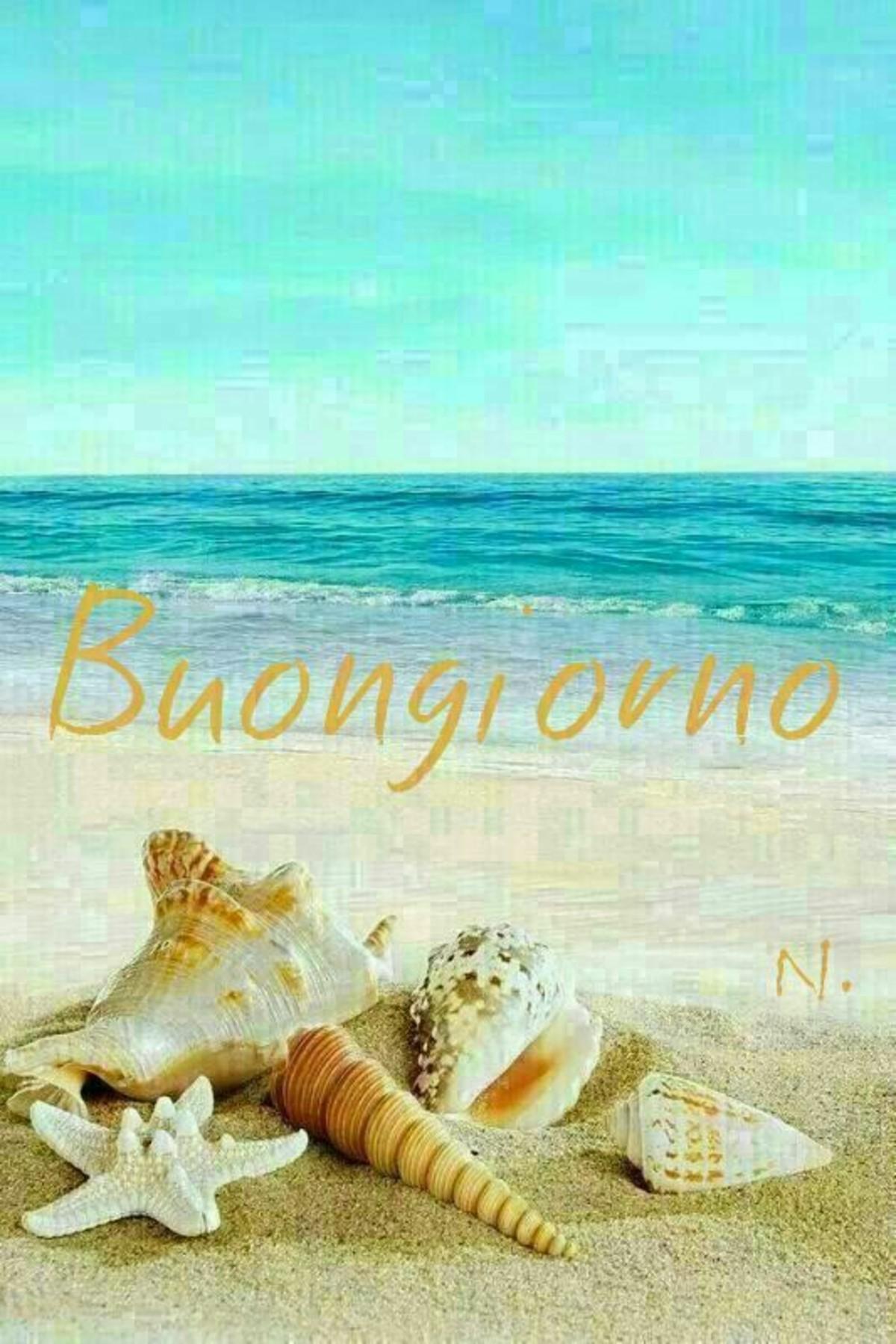 Buongiorno Immagini con la spiaggia estate (6)