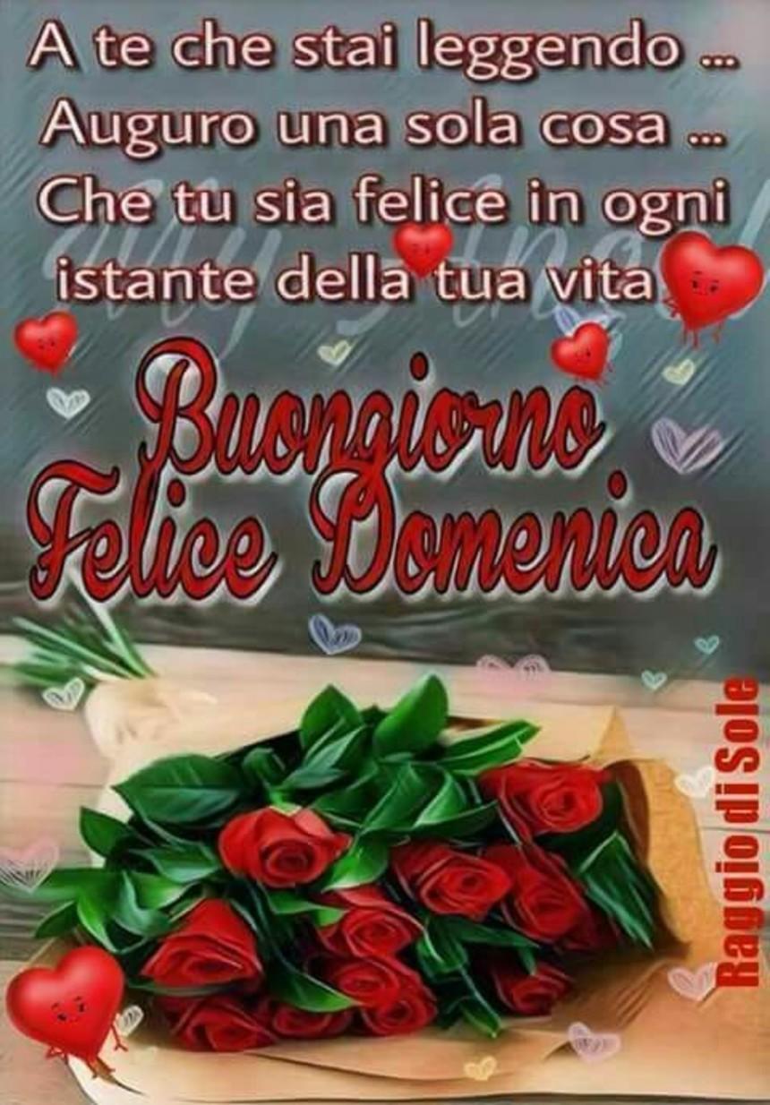 Immagini Buona Domenica con rose rosse (2)