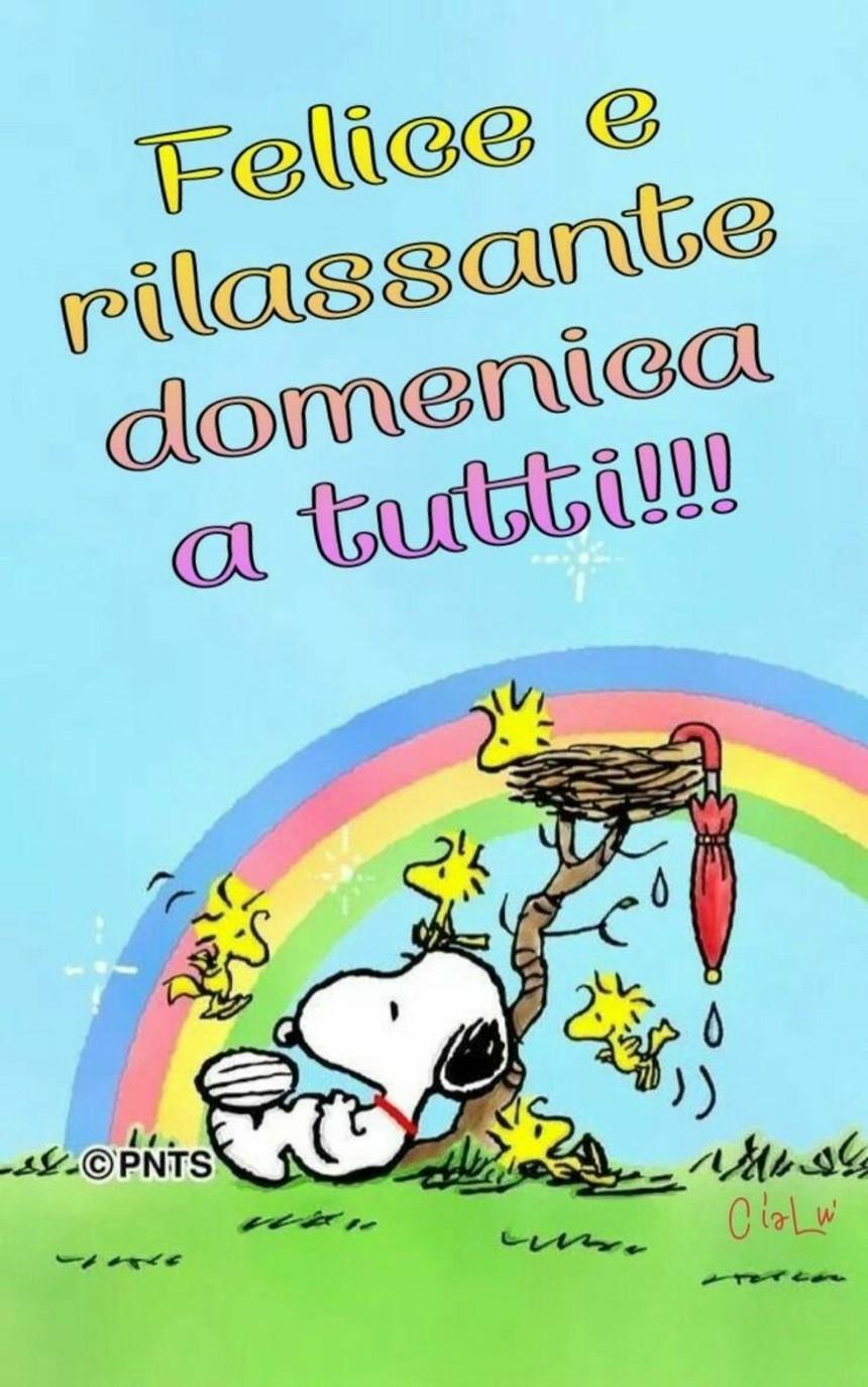 Immagini Buona Domenica divertenti con Snoopy (1)