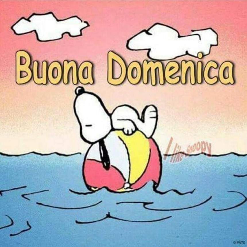 Immagini Buona Domenica divertenti con Snoopy (2)