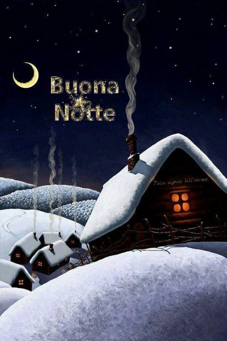 Immagini Buonanotte con la neve