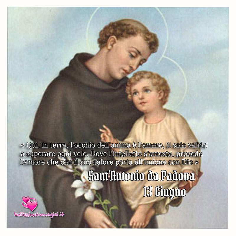 Immagini Sant'Antonio da Padova per il 13 Giugno WhatsApp Facebook