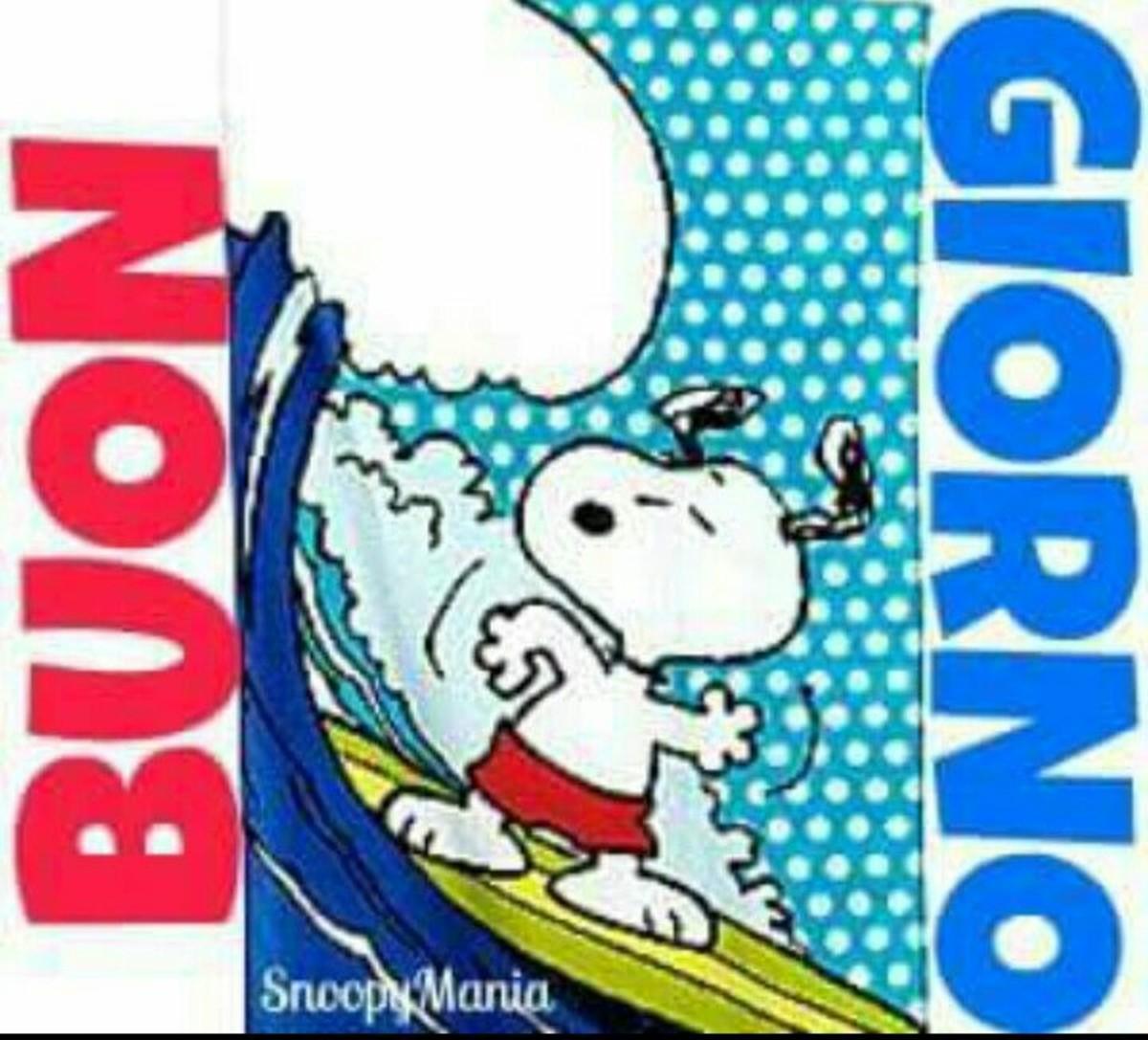 Immagini belle Buongiorno Snoopy fa caldo