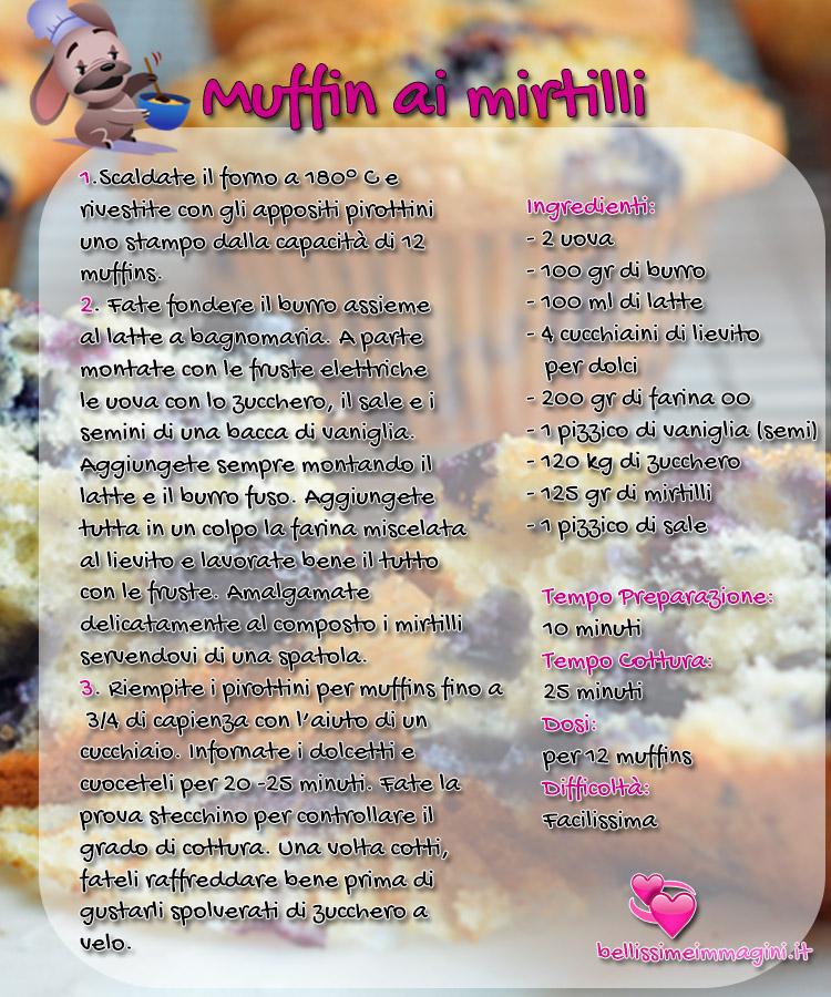 Muffin ai mirtilli ricette facili e veloci da condividere