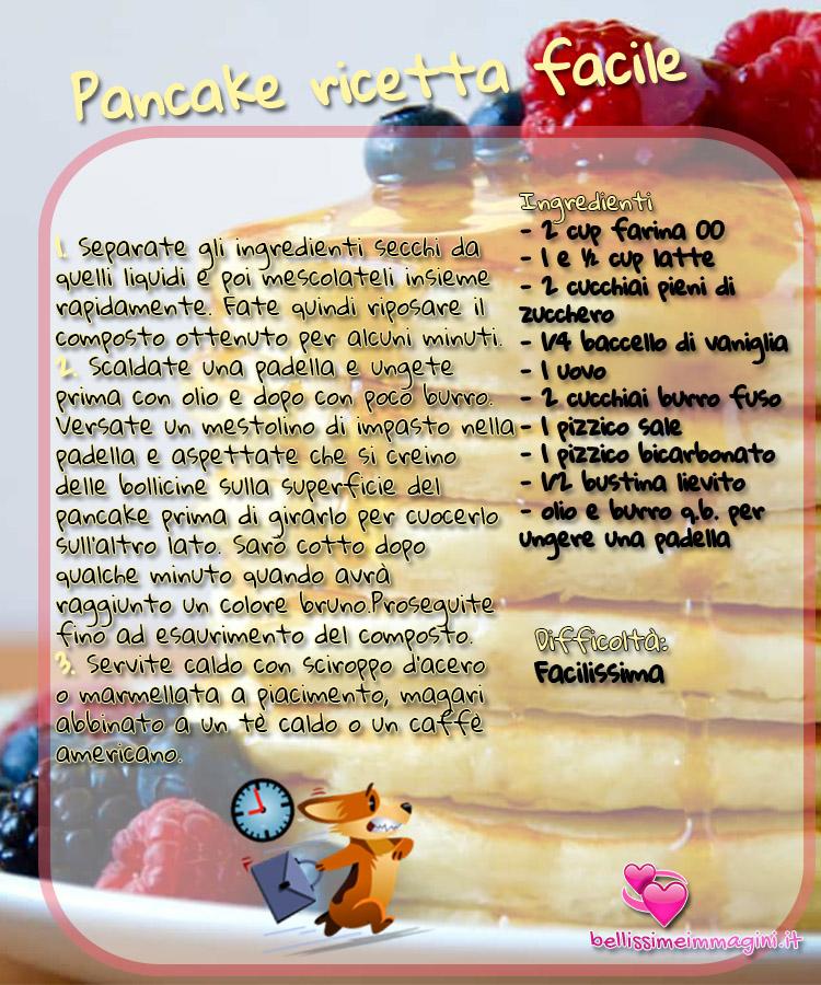 Pancake ricetta facile e veloce Pinterest da condividere