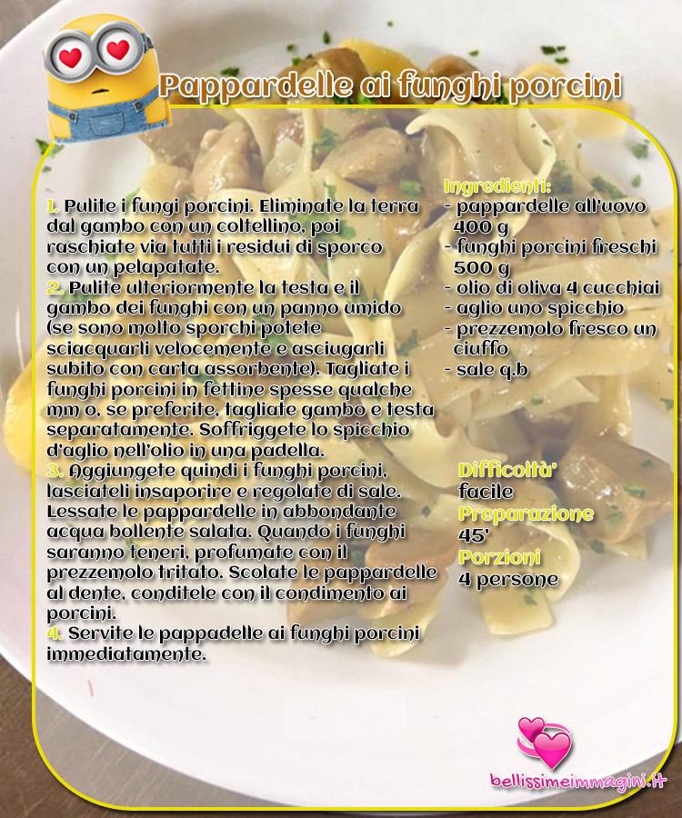 Pappardelle ai funghi porcini primi piatti ricette da condividere