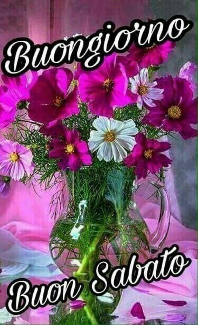 Buon Sabato immagini con i fiori (4)
