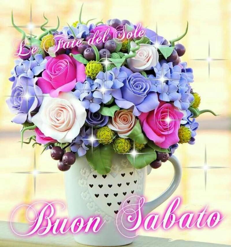 Buon Sabato immagini con i fiori (7)