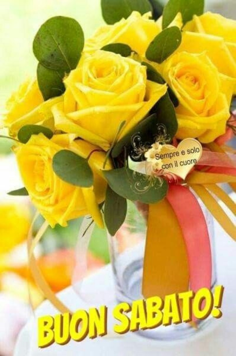 Buon Sabato immagini con i fiori (9)