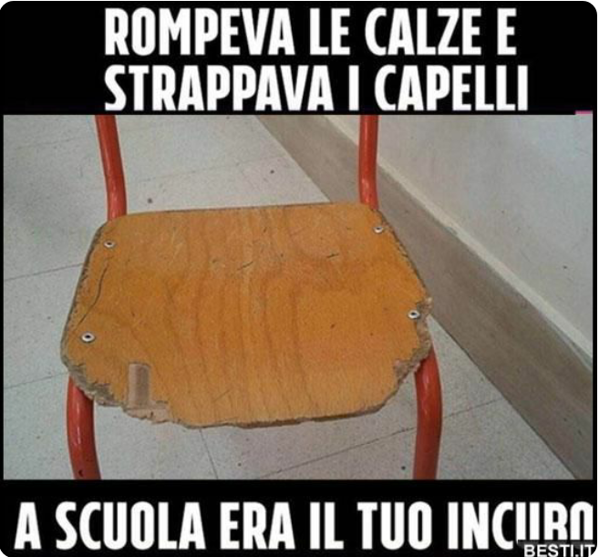 Immagini nostalgia ai miei tempi sedia di scuola