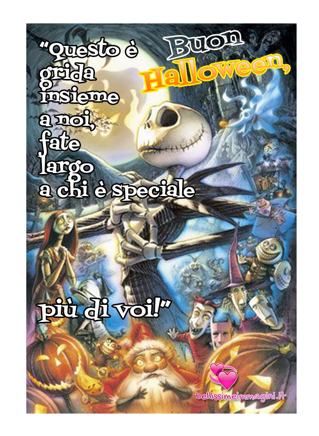Buon Halloween Nightmare before Christmas Jack Skeletron