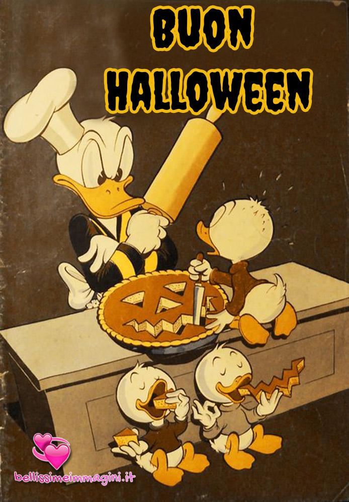 Buon Halloween diventente con Paperino immagini nuove