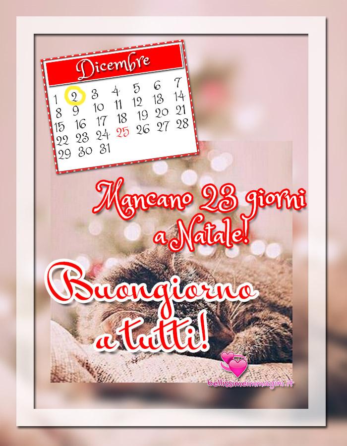 2 Dicembre Buongiorno immagini Calendario dell'Avvento