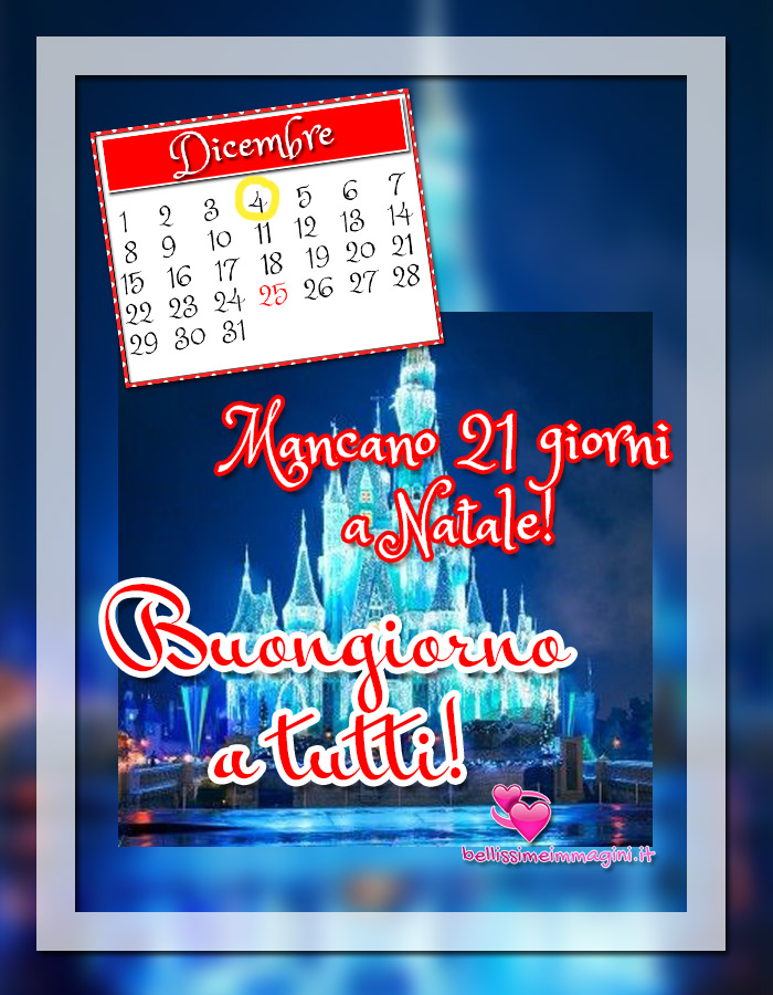 4 Dicembre immagini Buongiorno Calendario d'Avvento