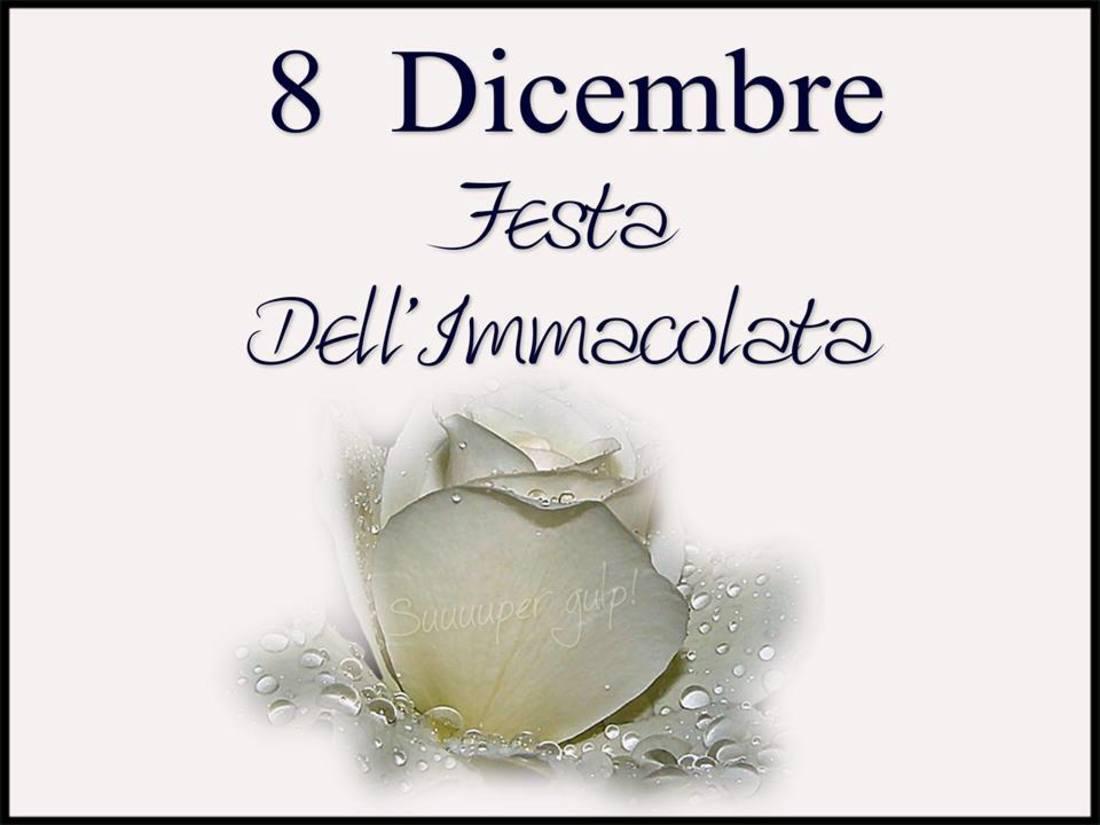 8 Dicembre Festa dell'Immacolata Concezione