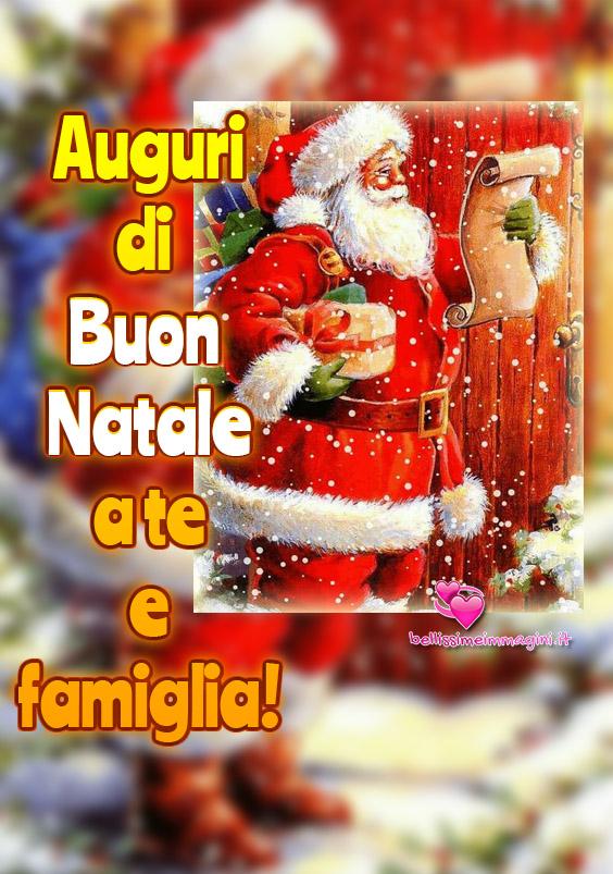 Auguri di Buon Natale a te e famiglia