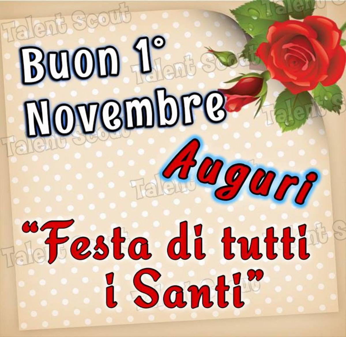 Buon 1 Novembre auguri