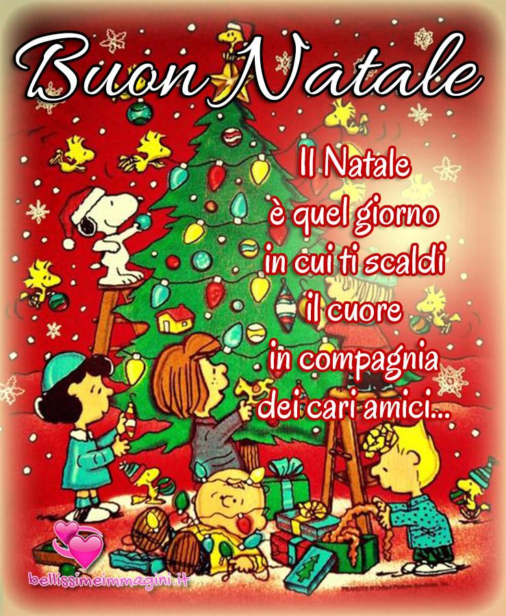 Buon Natale immagini di auguri con Snoopy