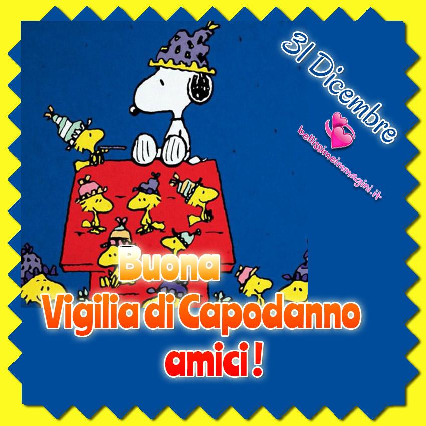 Auguri Vigilia di Capodanno immagini bellissime Snoopy