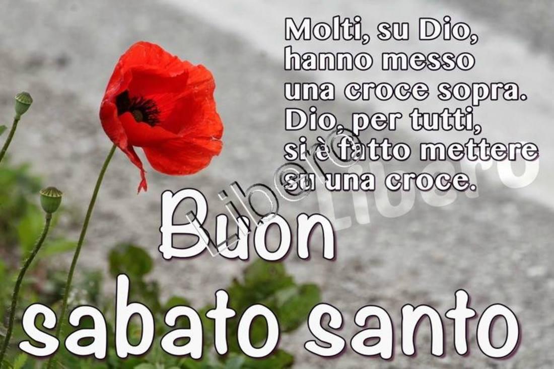 Buon Sabato Santo immagini Facebook WhatsApp