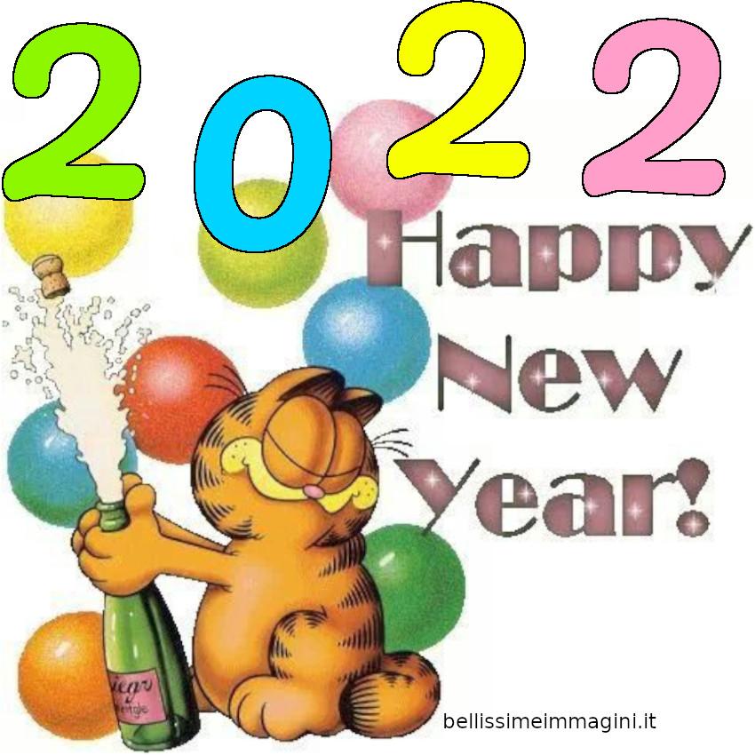 Buon Anno Nuovo 2022 col gatto Garfield