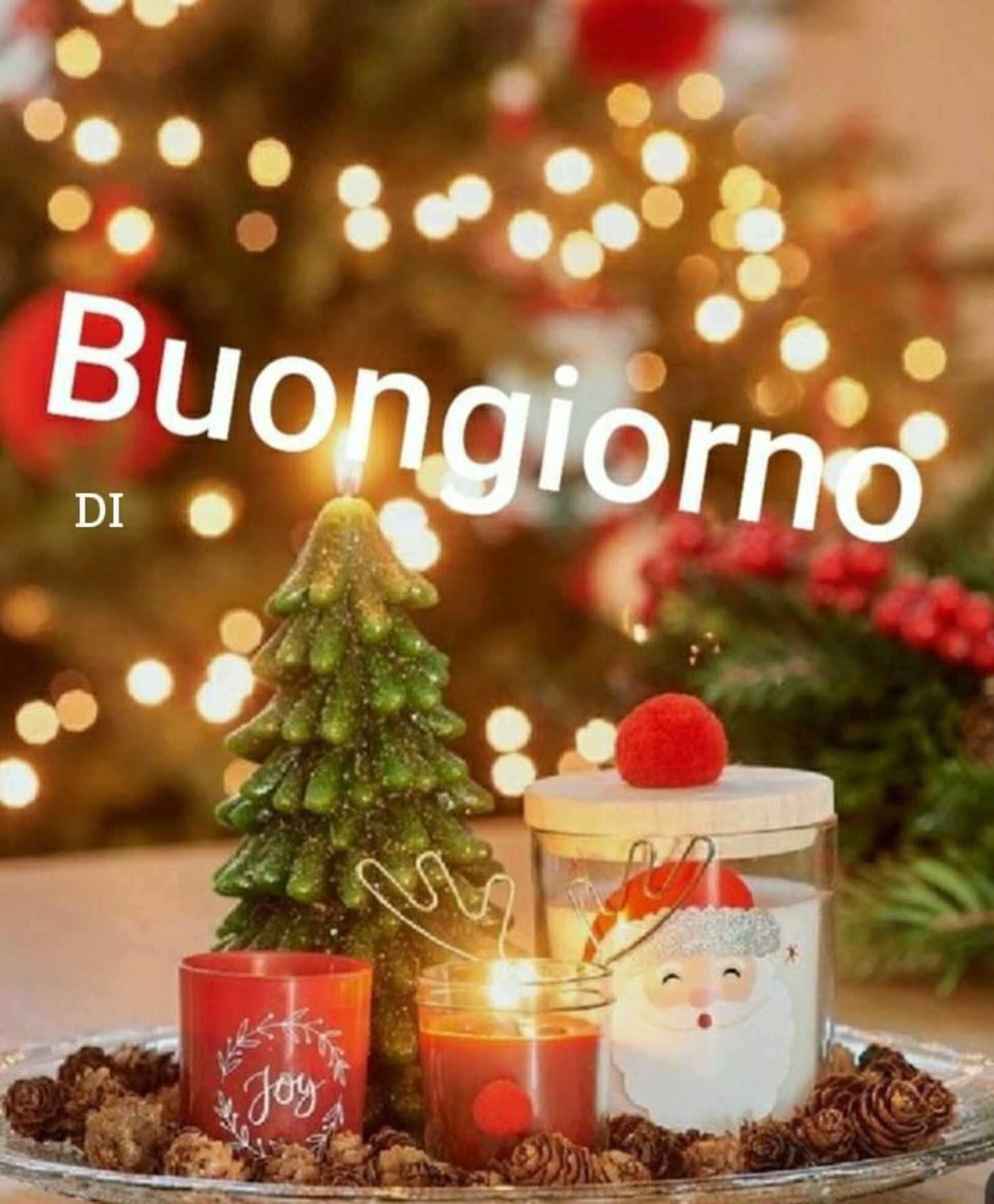 Buon giorno a tema festività natalizie