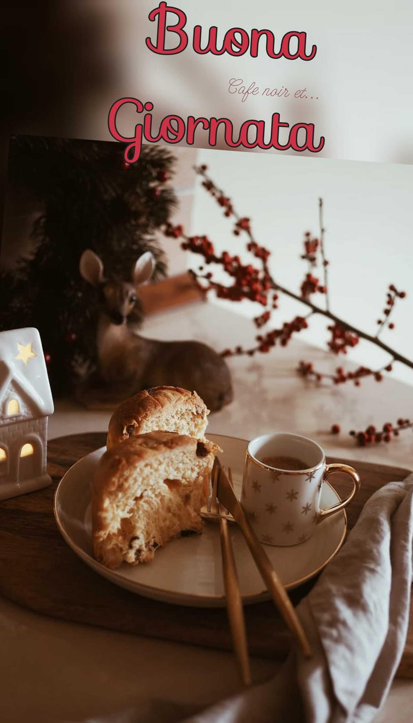 Buona giornata colazione natalizia