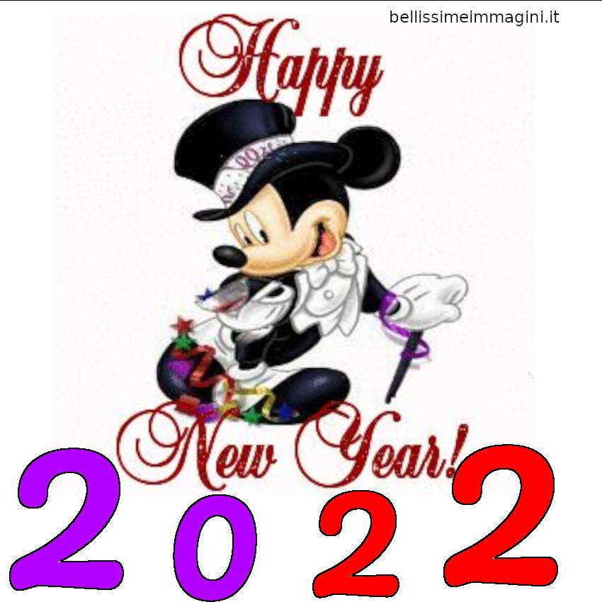 Happy New Year 2022 con Topolino